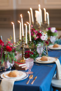 Guest tablescape from a Beauty and the Beast Inspired Wedding on Kara's Party Ideas | KarasPartyIdeas.com (43)
