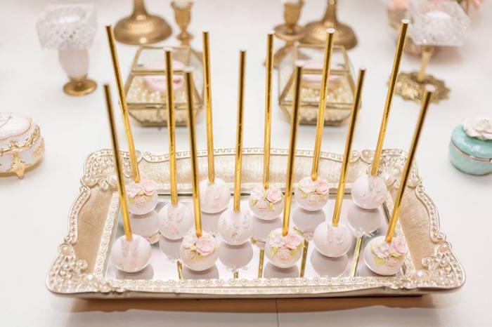 Garden cake pops from a Blush Garden Baby Shower on Kara's Party Ideas | KarasPartyIdeas.com (12)