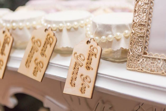 Wooden favor tags from a Blush Garden Baby Shower on Kara's Party Ideas | KarasPartyIdeas.com (9)