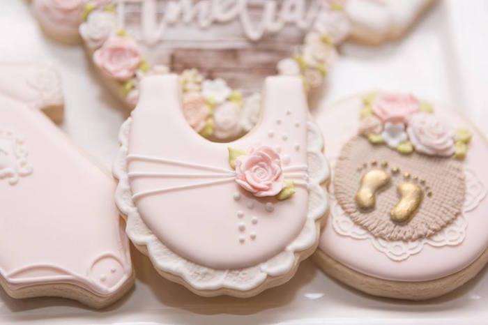 Cookies from a Blush Garden Baby Shower on Kara's Party Ideas | KarasPartyIdeas.com (8)