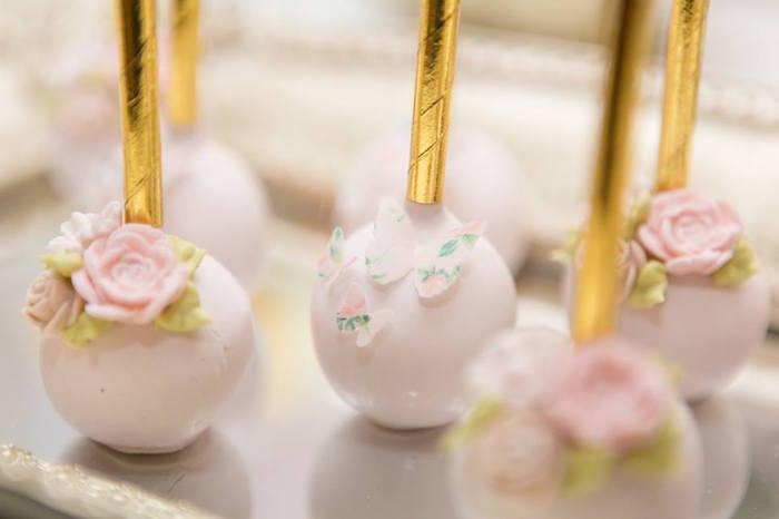 Garden cake pops from a Blush Garden Baby Shower on Kara's Party Ideas | KarasPartyIdeas.com (25)