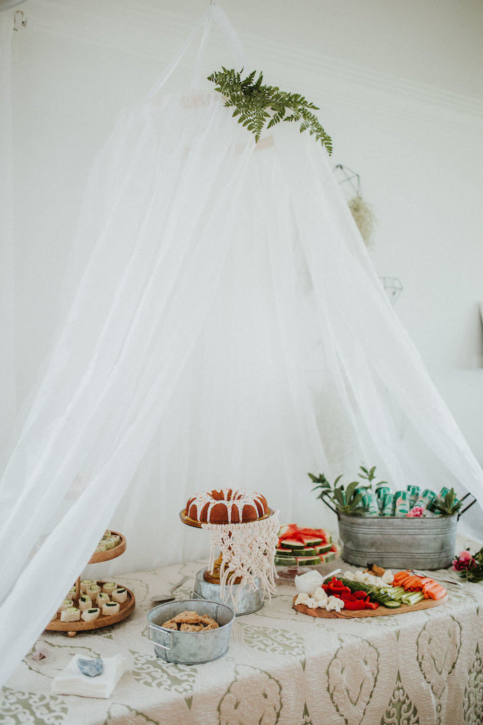 Tent sweet table from a Boho 2nd Birthday Party on Kara's Party Ideas | KarasPartyIdeas.com (17)