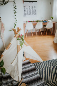 Boho tent teepee from a Boho 2nd Birthday Party on Kara's Party Ideas | KarasPartyIdeas.com (15)