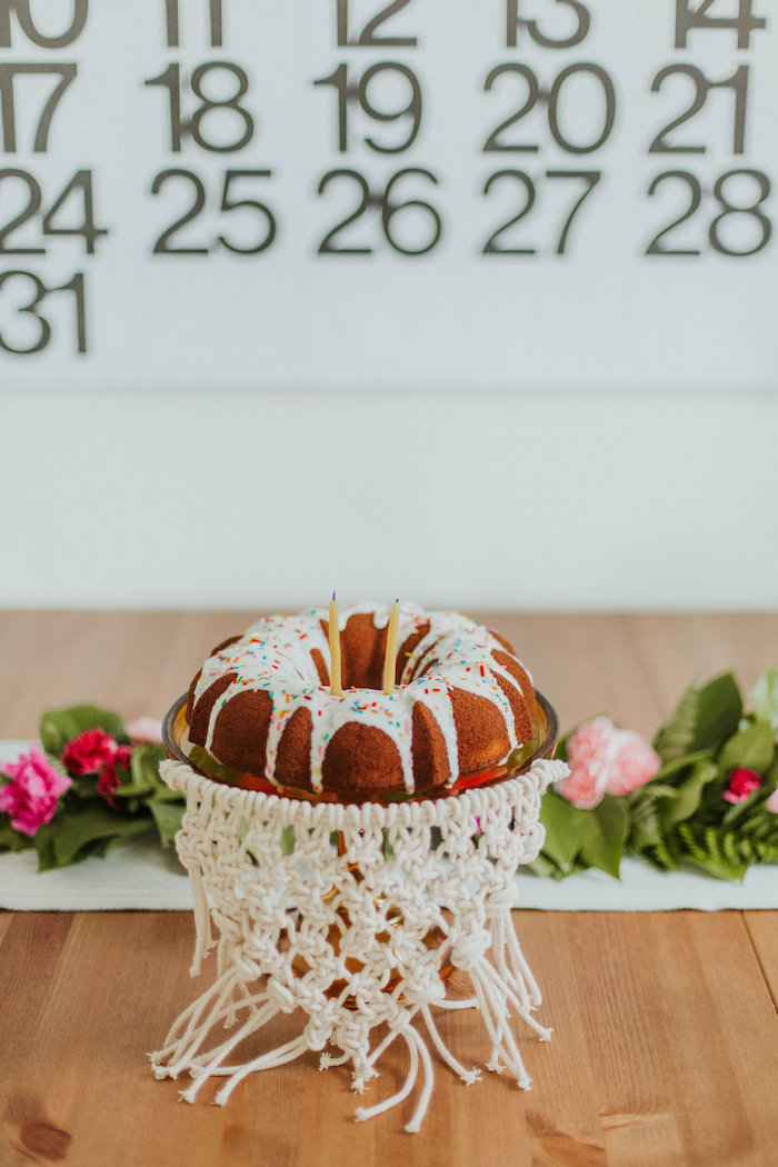 Boho bundt cake from a Boho 2nd Birthday Party on Kara's Party Ideas | KarasPartyIdeas.com (8)