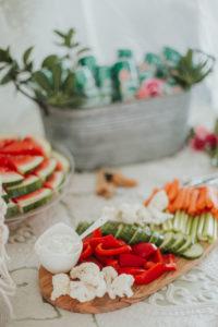 Veggie plate from a Boho 2nd Birthday Party on Kara's Party Ideas | KarasPartyIdeas.com (25)