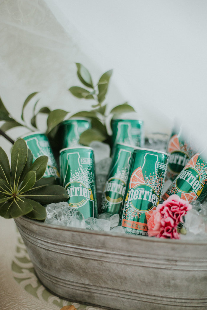 Drink cans from a Boho 2nd Birthday Party on Kara's Party Ideas | KarasPartyIdeas.com (24)