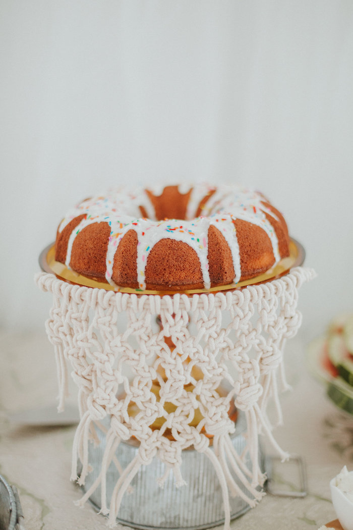 Boho bundt cake from a Boho 2nd Birthday Party on Kara's Party Ideas | KarasPartyIdeas.com (23)