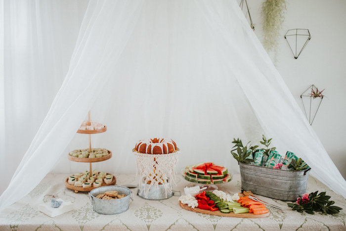 Head table from a Boho 2nd Birthday Party on Kara's Party Ideas | KarasPartyIdeas.com (19)