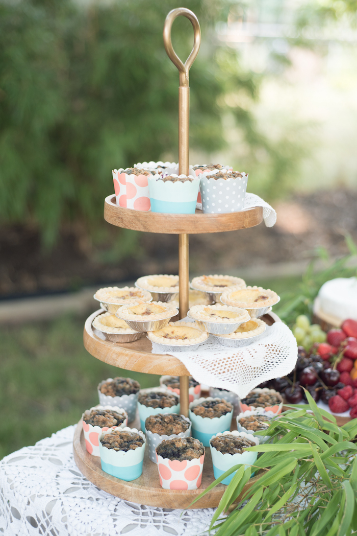 Muffins and quiche from a Boho Backyard Brunch Birthday Party on Kara's Party Ideas | KarasPartyIdeas.com (23)