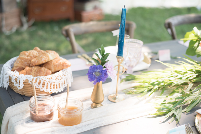 Jam and croissants from a Boho Backyard Brunch Birthday Party on Kara's Party Ideas | KarasPartyIdeas.com (20)