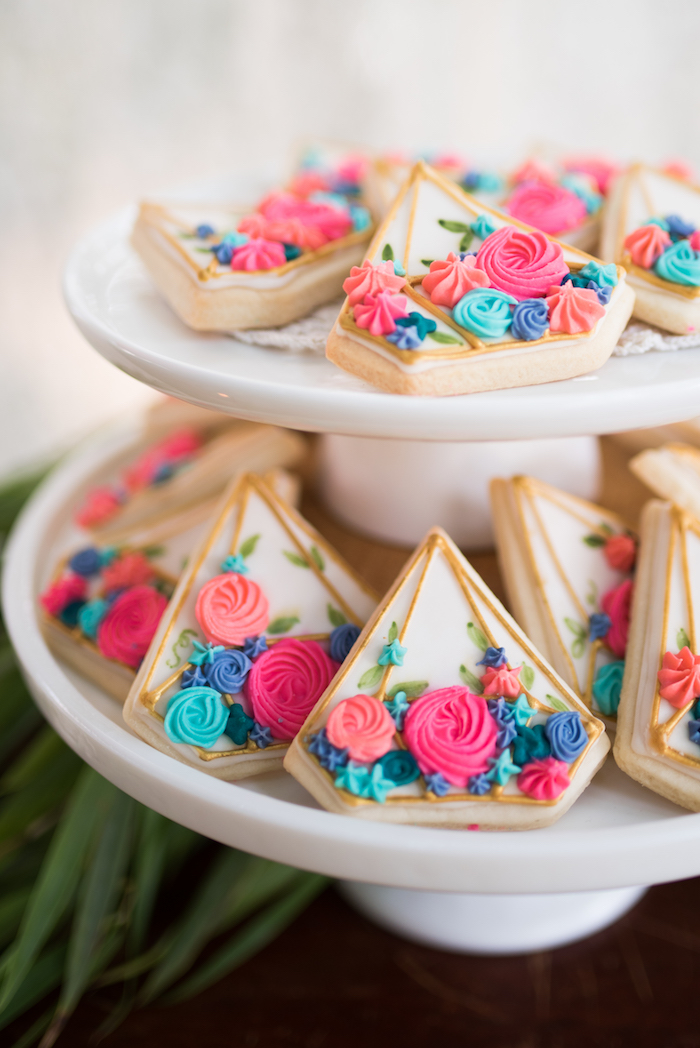Flower-filled terrarium cookies from a Boho Backyard Brunch Birthday Party on Kara's Party Ideas | KarasPartyIdeas.com (15)