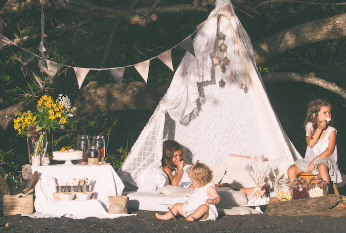 Boho Lakeside Camping Party on Kara's Party Ideas | KarasPartyIdeas.com (8)