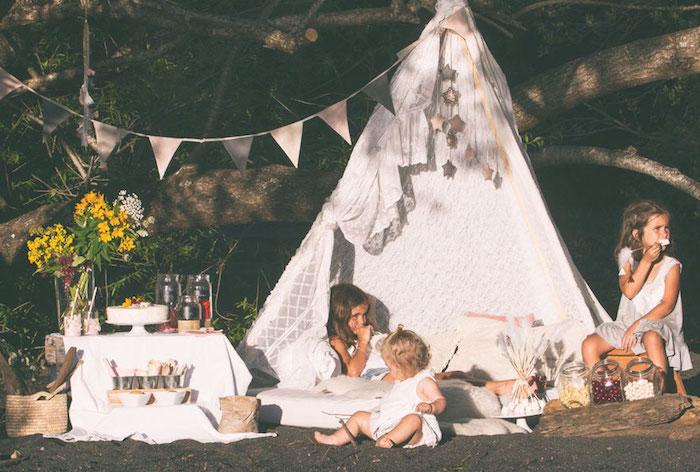 Boho Lakeside Camping Party on Kara's Party Ideas | KarasPartyIdeas.com (8)