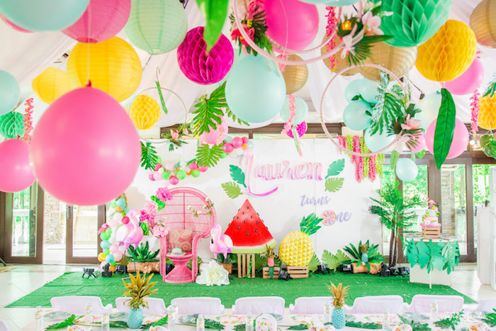 Chic Flamingo Birthday Party on Kara's Party Ideas | KarasPartyIdeas.com (10)