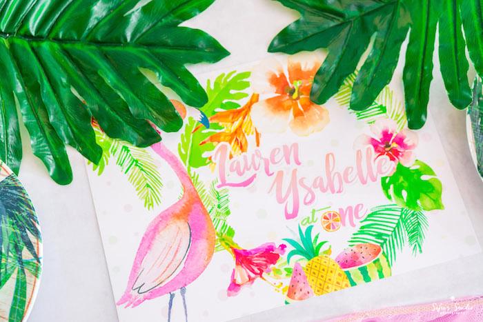 Signage from a Chic Flamingo Birthday Party on Kara's Party Ideas | KarasPartyIdeas.com (9)
