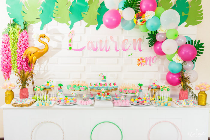 Chic Flamingo Birthday Party on Kara's Party Ideas | KarasPartyIdeas.com (25)