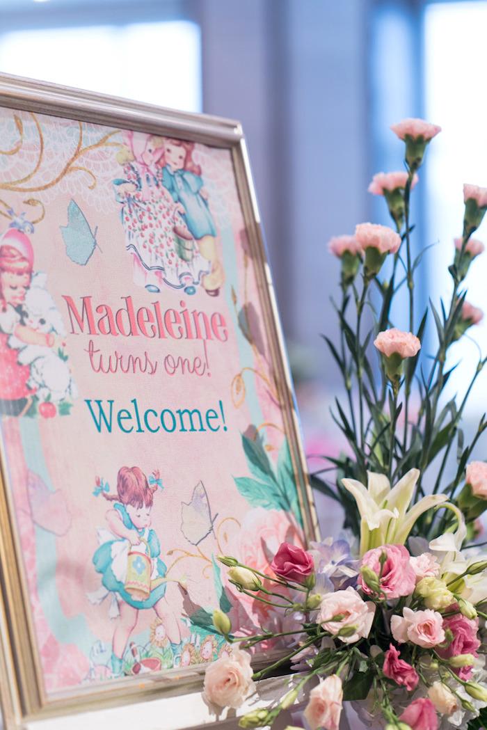Nursery Rhyme welcome sign from a Classic Nursery Rhyme Birthday Party on Kara's Party Ideas | KarasPartyIdeas.com (17)