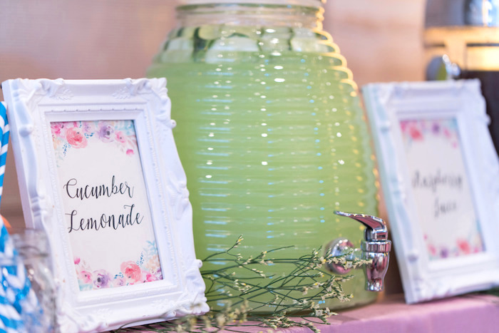 Beverage dispenser + signage from a Classic Nursery Rhyme Birthday Party on Kara's Party Ideas | KarasPartyIdeas.com (15)