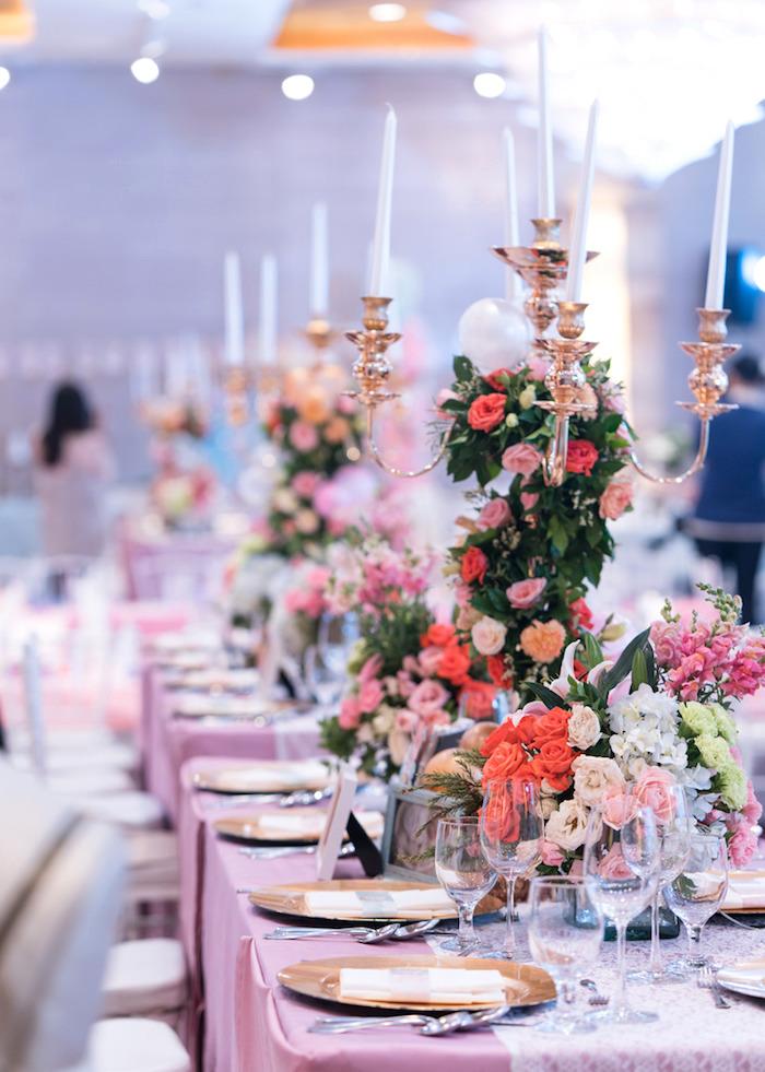 Guest table from a Classic Nursery Rhyme Birthday Party on Kara's Party Ideas | KarasPartyIdeas.com (14)