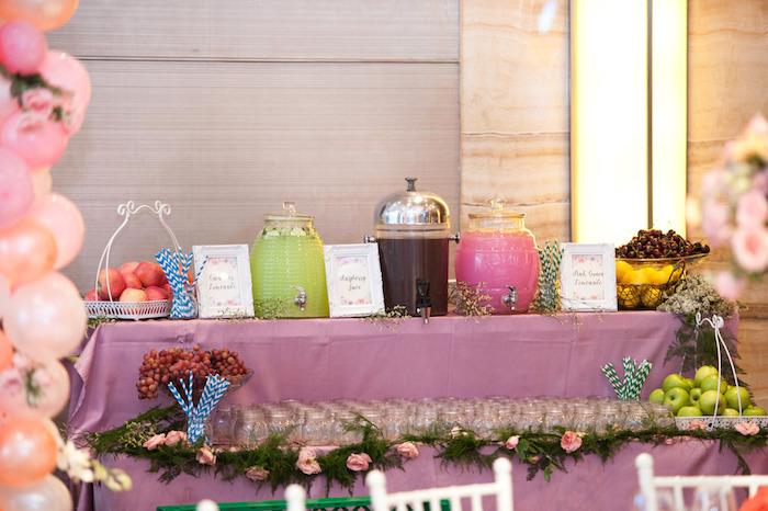 Beverage table from a Classic Nursery Rhyme Birthday Party on Kara's Party Ideas | KarasPartyIdeas.com (13)