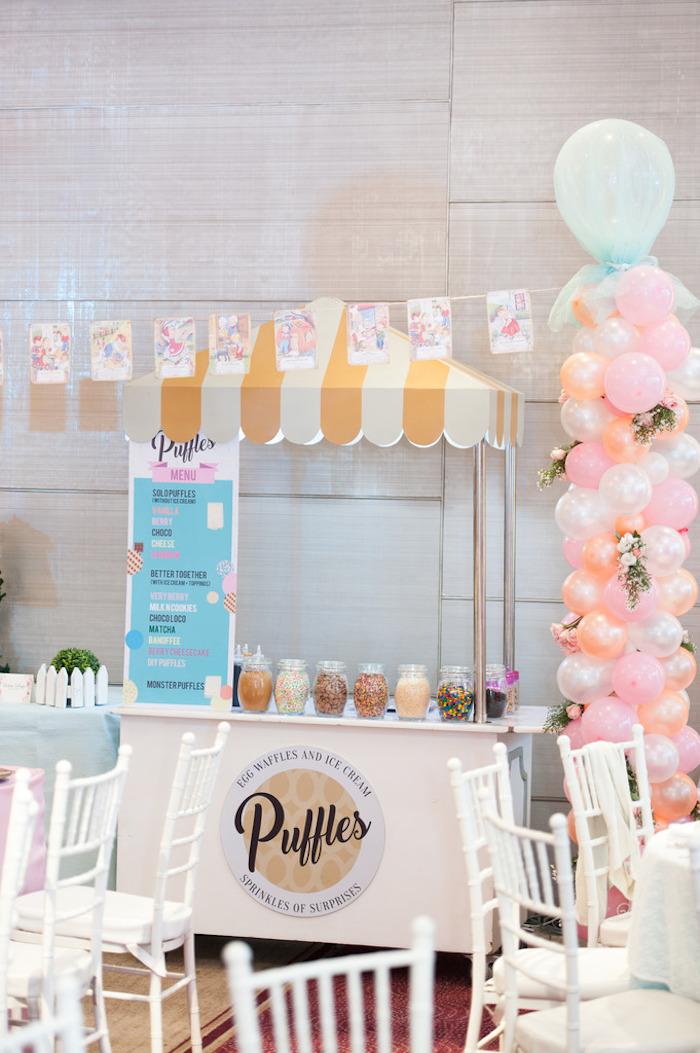 Waffle Bar from a Classic Nursery Rhyme Birthday Party on Kara's Party Ideas | KarasPartyIdeas.com (8)