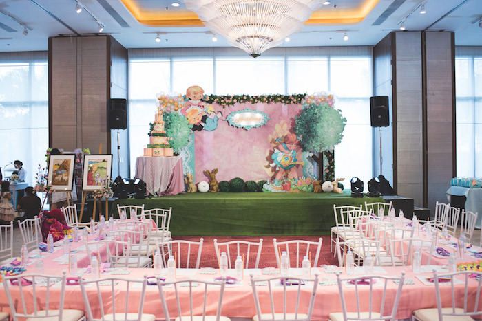 Guest Tables Nursery Rhyme Stage From A Clic Birthday Party On Kara S