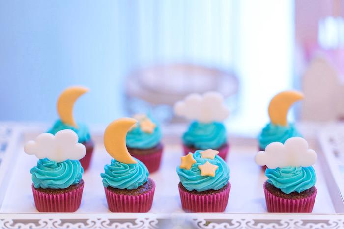 Night Sky Cupcakes from a Classic Nursery Rhyme Birthday Party on Kara's Party Ideas | KarasPartyIdeas.com (25)