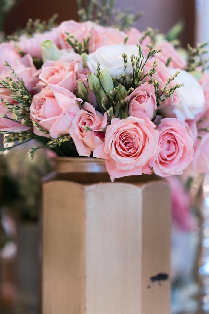 Floral centerpiece from a Classic Nursery Rhyme Birthday Party on Kara's Party Ideas | KarasPartyIdeas.com (18)