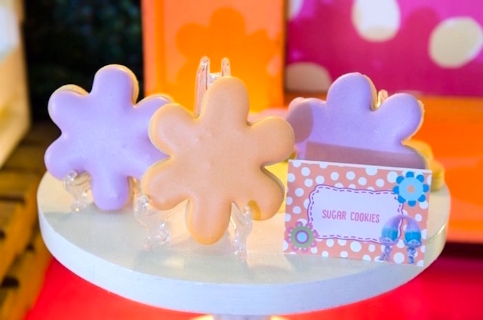 Cookies from a Colorful Trolls Birthday Party on Kara's Party Ideas | KarasPartyIdeas.com (9)