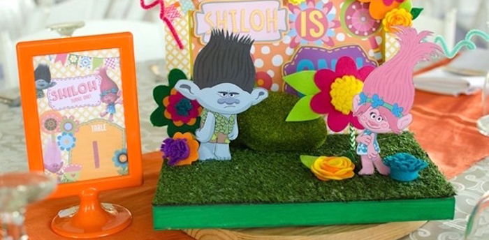 Colorful Trolls Birthday Party on Kara's Party Ideas | KarasPartyIdeas.com (1)