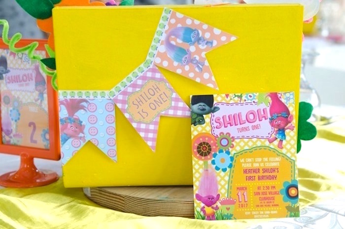 Trolls Party Invite from a Colorful Trolls Birthday Party on Kara's Party Ideas | KarasPartyIdeas.com (21)