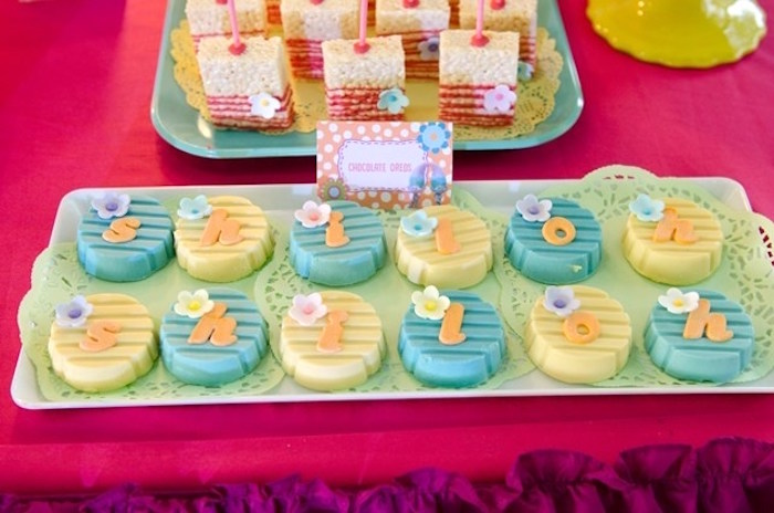 Chocolate Oreos from a Colorful Trolls Birthday Party on Kara's Party Ideas | KarasPartyIdeas.com (18)