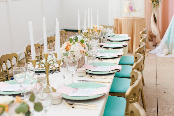 Guest table from an Elegant Backyard Wedding on Kara's Party Ideas | KarasPartyIdeas.com (11)