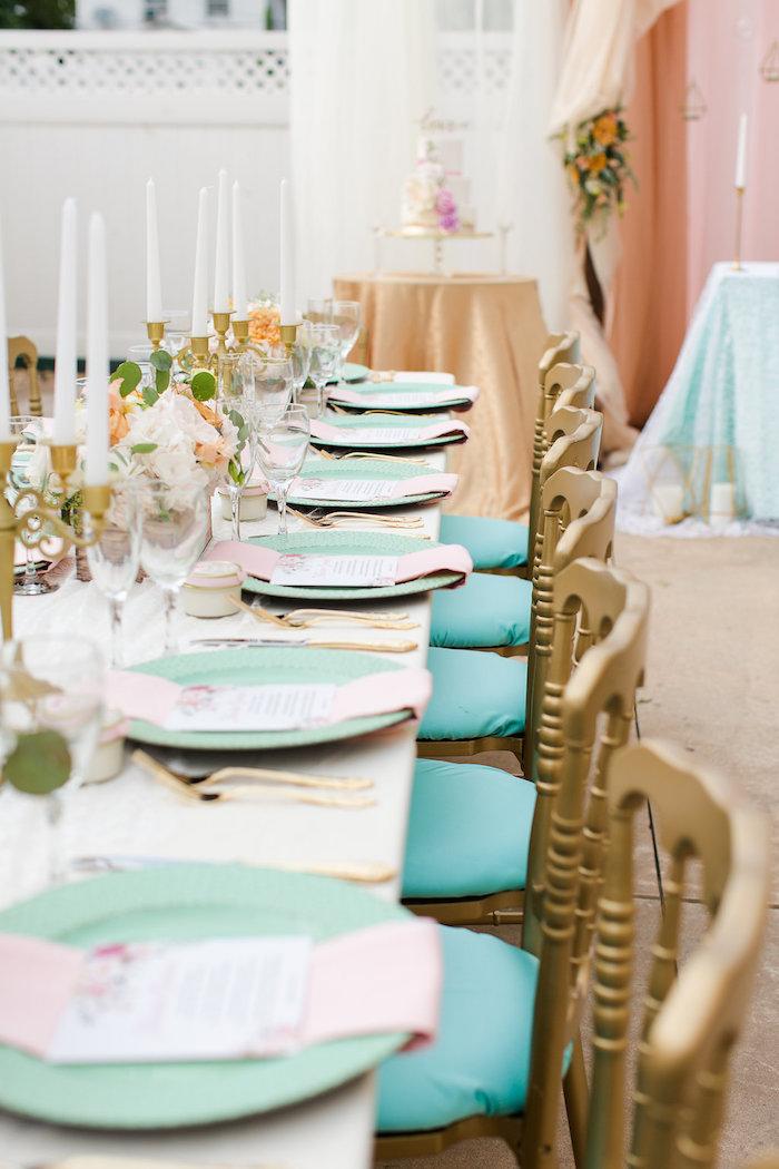 Guest tablescape from an Elegant Backyard Wedding on Kara's Party Ideas | KarasPartyIdeas.com (10)