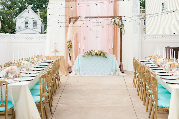 Partyscape from an Elegant Backyard Wedding on Kara's Party Ideas | KarasPartyIdeas.com (5)