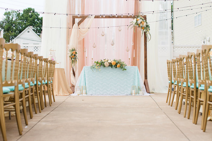 Elegant Backyard Wedding on Kara's Party Ideas | KarasPartyIdeas.com (4)