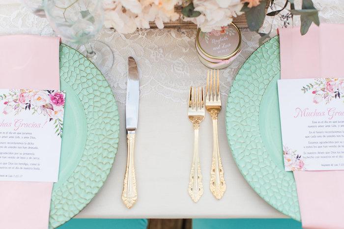 Gold flatware from an Elegant Backyard Wedding on Kara's Party Ideas | KarasPartyIdeas.com (19)