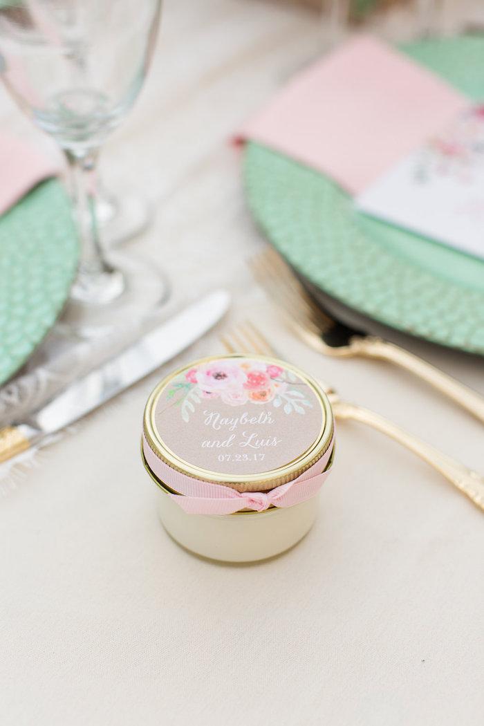 Favor Jar From An Elegant Backyard Wedding On Karas Party Ideas
