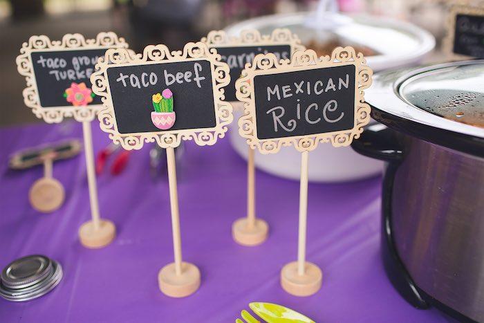 Chalkboard labels from an Elena of Avalor Inspired Birthday Fiesta on Kara's Party Ideas | KarasPartyIdeas.com (21)