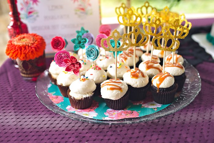 Cupcakes from an Elena of Avalor Inspired Birthday Fiesta on Kara's Party Ideas | KarasPartyIdeas.com (16)