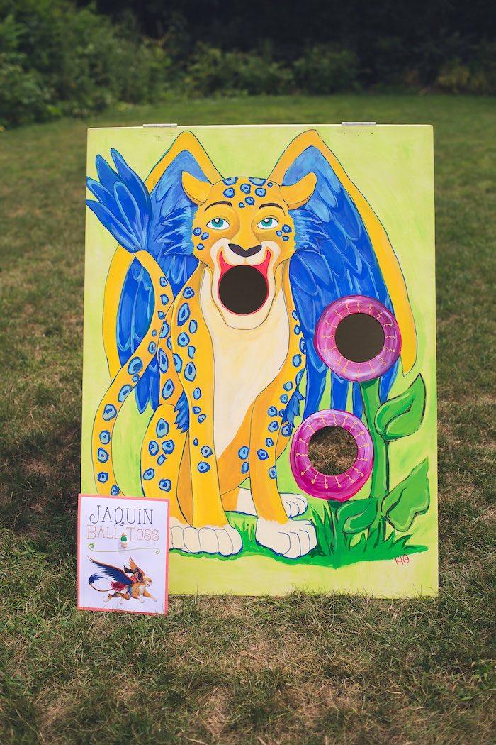 Jaquin Ball Toss game from an Elena of Avalor Inspired Birthday Fiesta on Kara's Party Ideas | KarasPartyIdeas.com (13)