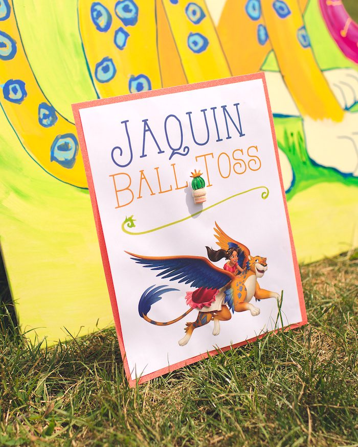 Jaquin ball toss from Elena of Avalor Inspired Birthday Fiesta on Kara's Party Ideas | KarasPartyIdeas.com (9)
