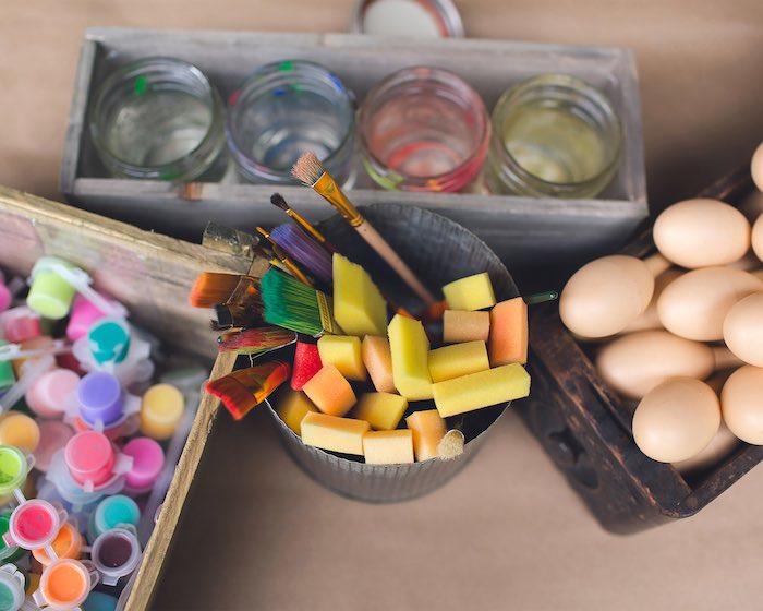 Paint supplies from Elena of Avalor Inspired Birthday Fiesta on Kara's Party Ideas | KarasPartyIdeas.com (7)