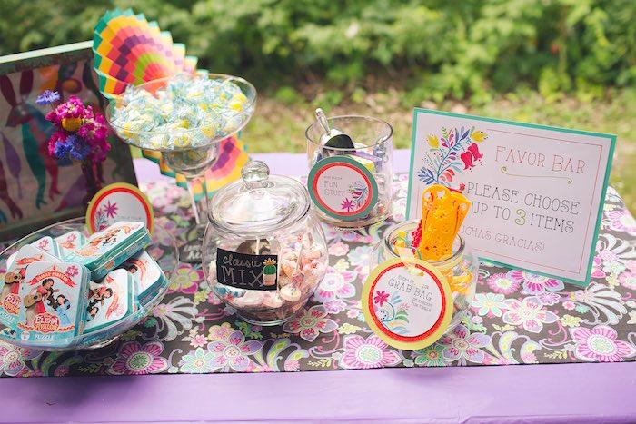 Favor bar from Elena of Avalor Inspired Birthday Fiesta on Kara's Party Ideas | KarasPartyIdeas.com (5)