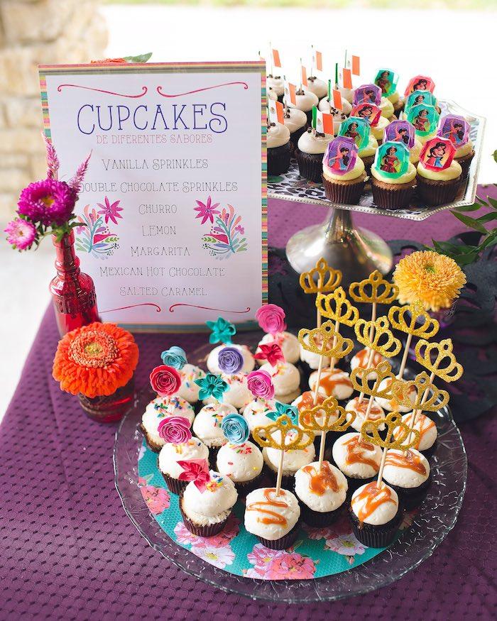 Cupcakes from an Elena of Avalor Inspired Birthday Fiesta on Kara's Party Ideas | KarasPartyIdeas.com (32)