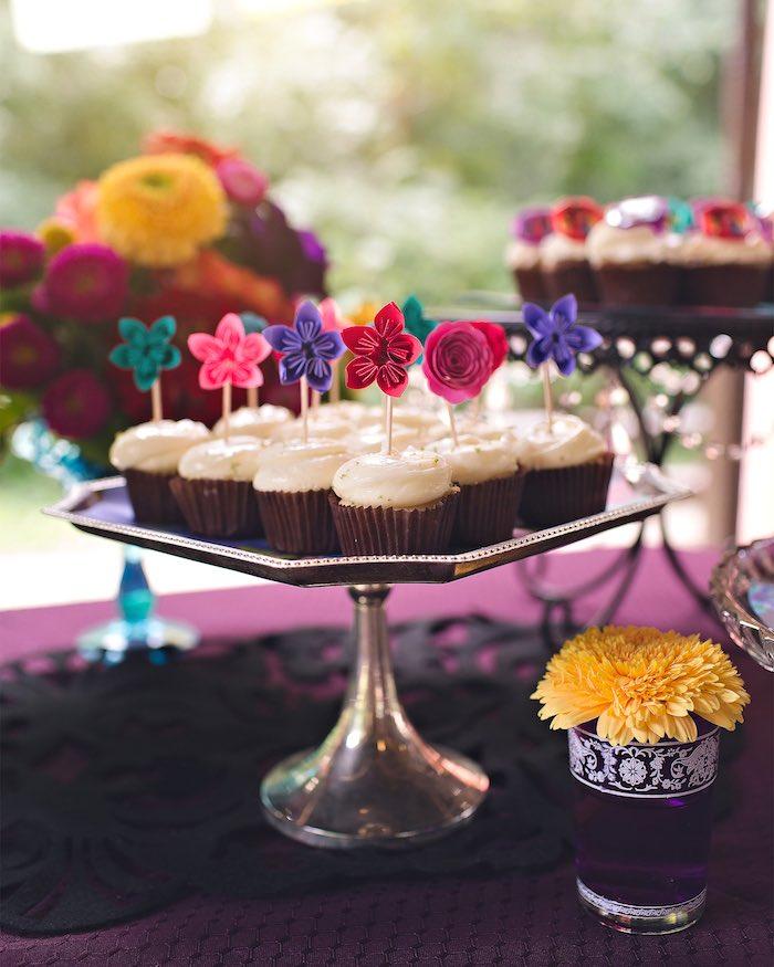 Cupcakes from an Elena of Avalor Inspired Birthday Fiesta on Kara's Party Ideas | KarasPartyIdeas.com (29)
