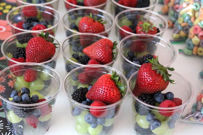 Fruit cups from a Fairy Garden Craft Party on Kara's Party Ideas   KarasPartyIdeas.com (6)