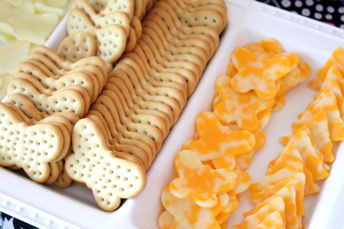 Butterfly cheese and crackers from a Fairy Garden Craft Party on Kara's Party Ideas | KarasPartyIdeas.com (5)