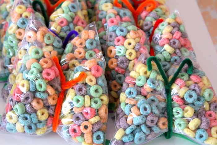 Butterfly Fruit Loop favors from a Fairy Garden Craft Party on Kara's Party Ideas | KarasPartyIdeas.com (3)