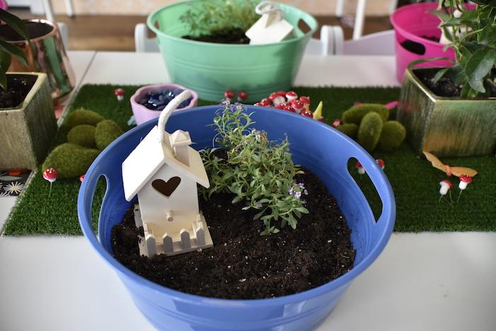 Fairy garden from a Fairy Garden Craft Party on Kara's Party Ideas   KarasPartyIdeas.com (20)